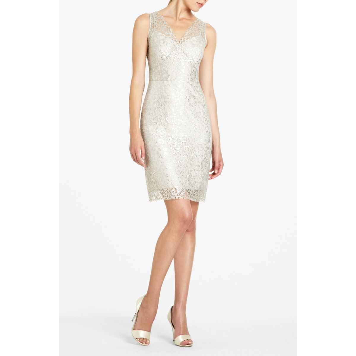 BCBGMAXAZRIA - SHOP BY CATEGORY: DRESSES: VIEW ALL: LYNETTE METALLIC ...
