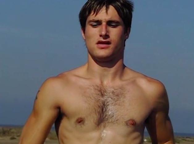 Naked Athletic Hunk Running Down Beach In Slow-Mo Video Is -9261