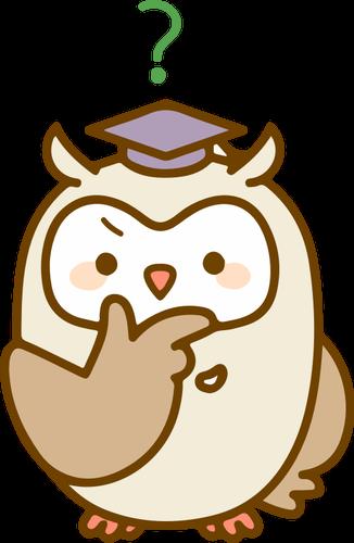 Hibou Perplexe Vecteurs Publiques Owl Free Clip Art Cartoon Images