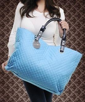 $20 Large Size Quited Hobo Bag Blue