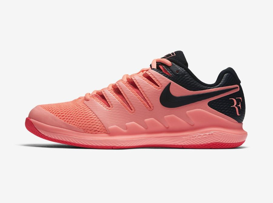 chaussure de tennis nikecourt air zoom vapor x lava glow