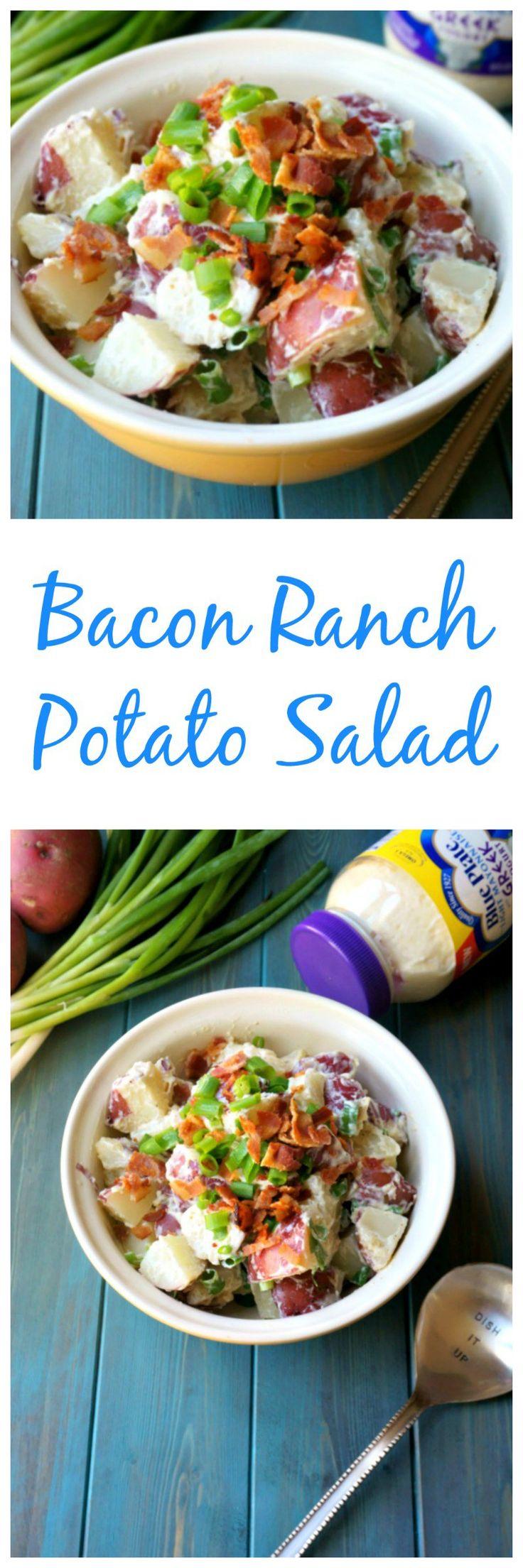 Bacon ranch potato salad red potatoes crispy bacon