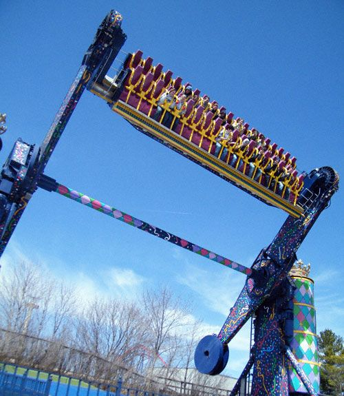 King Chaos At Six Flags Great America In Illinois Roller Coaster Great America Roller Coaster Ride