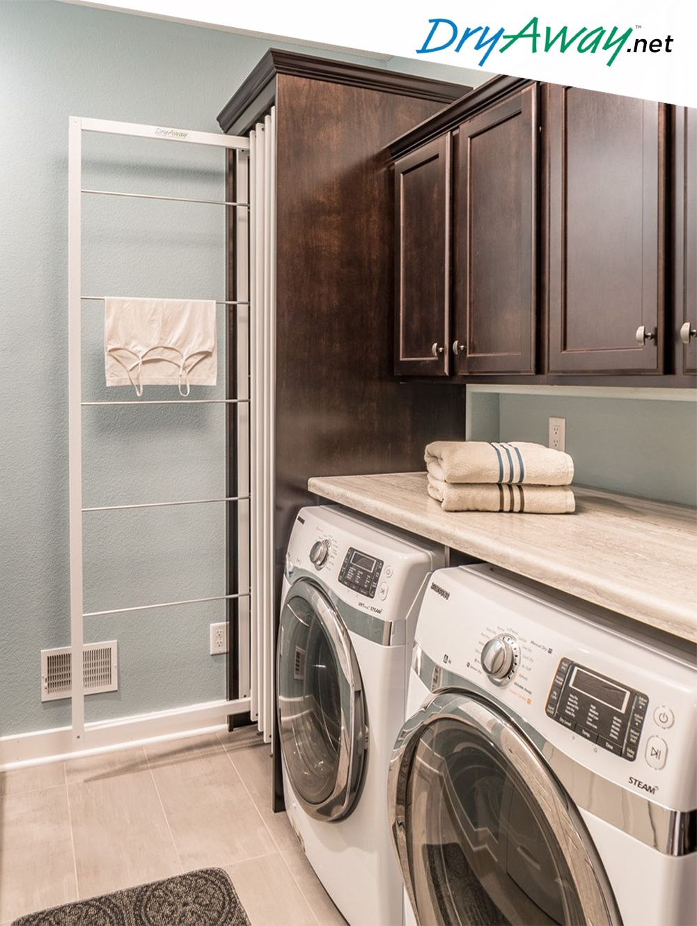 Eco Friendly Built In Laundry Room Clothes Drying Racks Dryaway Laundry Room Remodel Laundry Room Design Laundry Room Diy