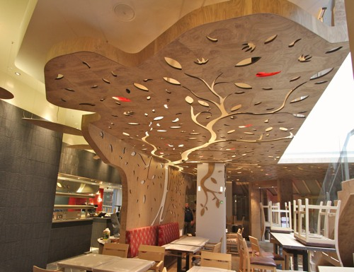 CNC Routing :: Nandos Chilli Tree in 2020 | False ceiling ...