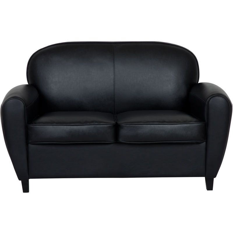 Canape Club William 2 Places Noir Furniture Love Seat Home Decor
