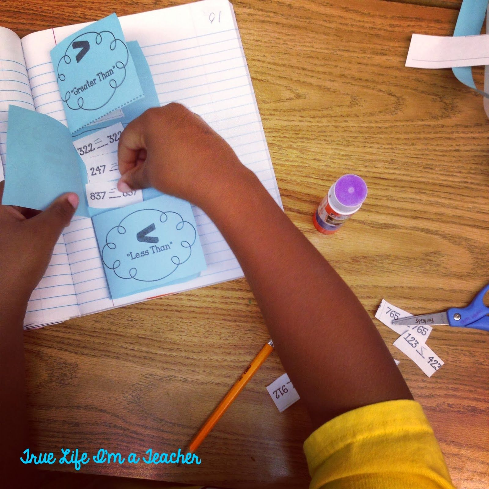 See how my students practiced comparing 3-digit numbers in their interactive math notebooks.