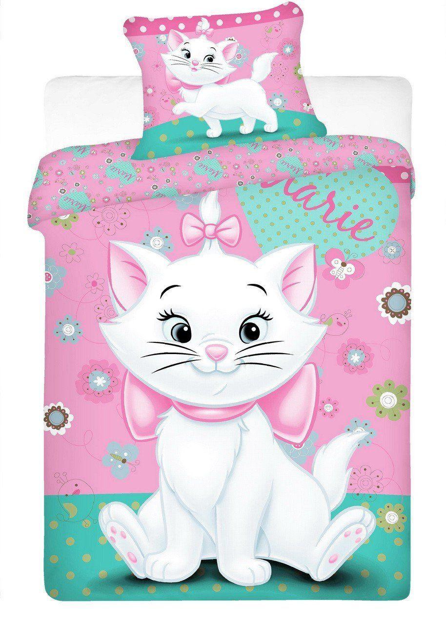 Disney Marie Cat Single Twin Comforter Duvet Cover Bed