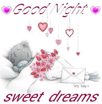 Image result for free clip art good night messages with hearts