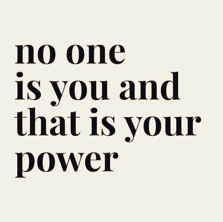 No one is you and that's is your POWER on We Heart It
