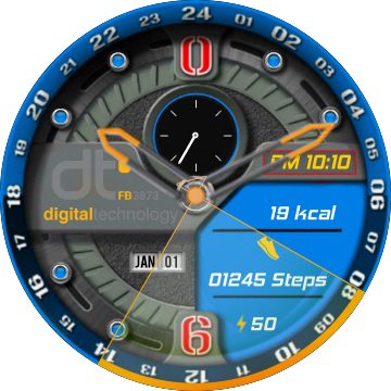 DT Analogic Digital Watch watch face preview