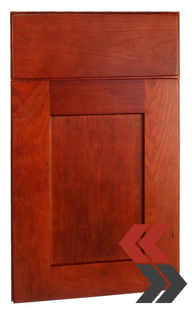 deerfield's shaker cherry cranberry cabinet door style