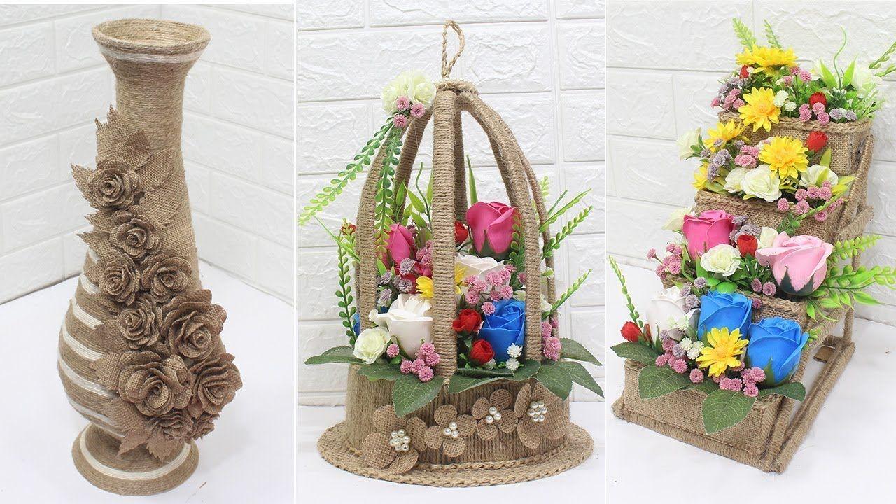 5 Jute Craft Ideas Home Decorating Ideas Handmade 5 Jute Crafts Handmade Decorations Crafts