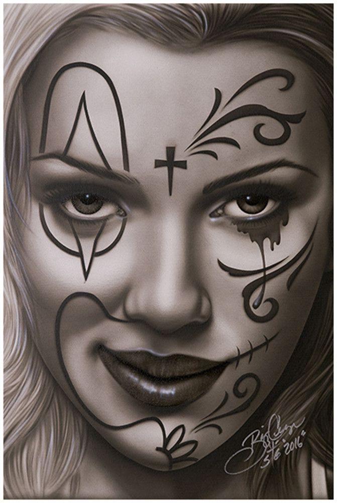 3b1f502d4 Devious Deception by Big Ceeze Sexy Clown Latina Framed Fine Art Print