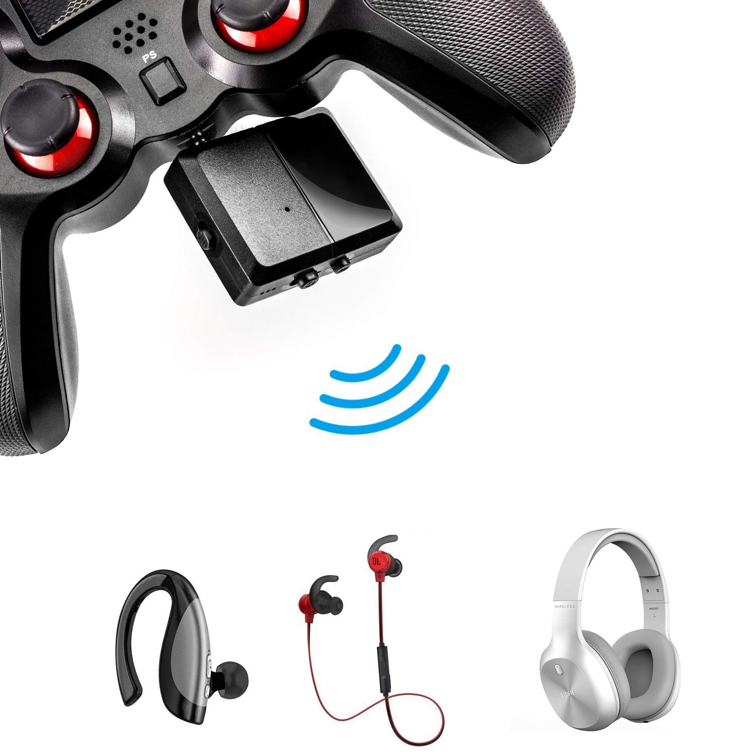 Jamswall Wireless Bluetooth Adapter Stereo Headset Adapter With Microphone Work For Ps4 Xbox One Switch Game Bluetooth Adapter Audio Adapter Gaming Accessories