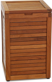 The Original Nila Medium Size Teak Laundry Or Storage Hamper