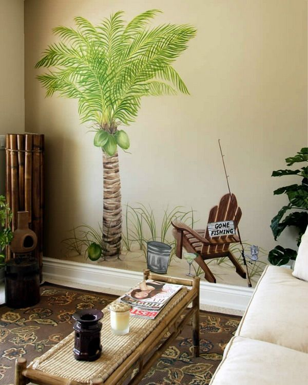 Beautiful Palm Tree Wall Murals Design Ideas | Walls Decor