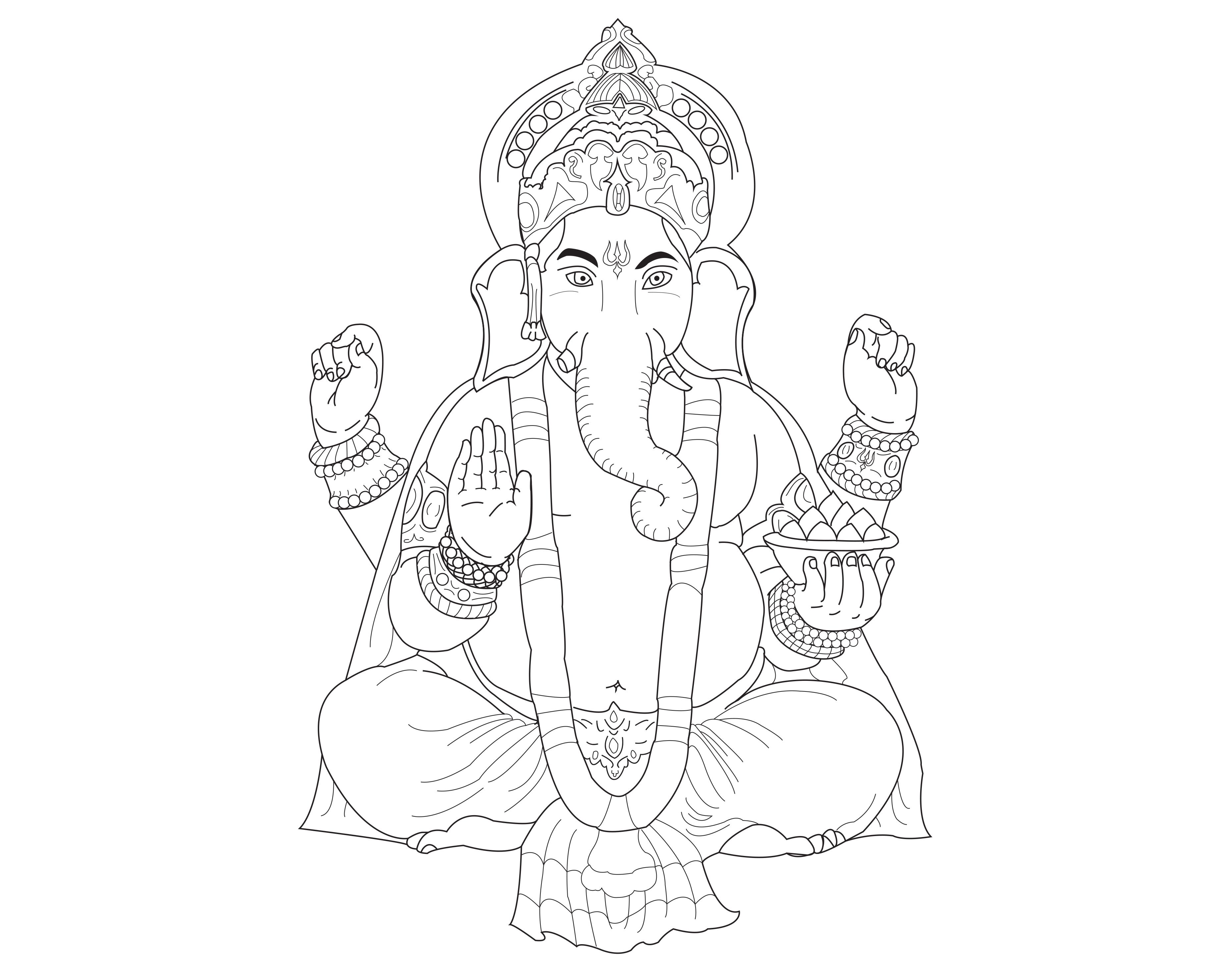 Coloring Books Ganesh The God Of Wisdom And Intelligence From Gallery India