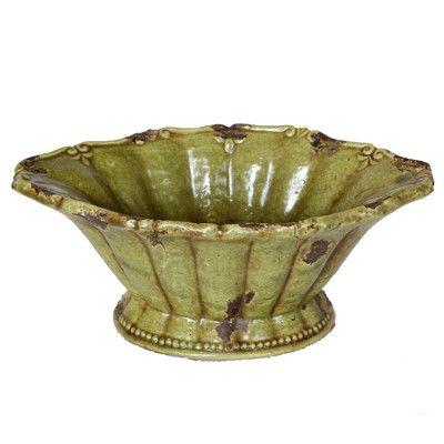 Privilege Ceramic Decorative Bowl Size: Large