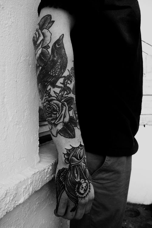 Tumblr Boy Tattoo Photography Black And White B Men