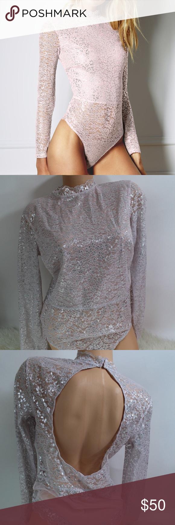 Lace bodysuit high neck   Victoriaus Secret Dream Angels Bodysuit NWT  Pinterest