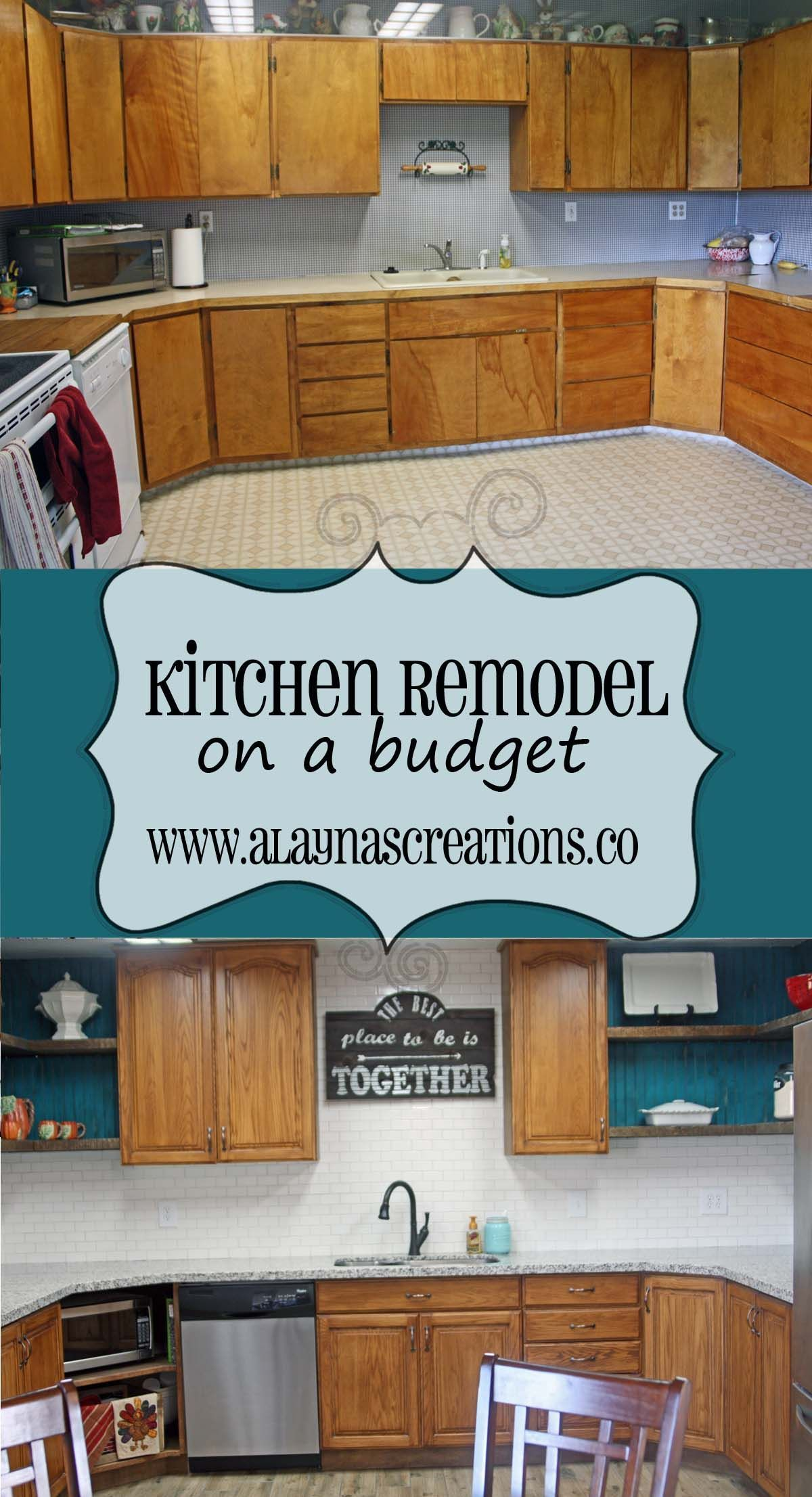 Diy kitchen remodel on a budget follow along with us step by step diy kitchen remodel on a budget follow along with us step by step as we solutioingenieria Images