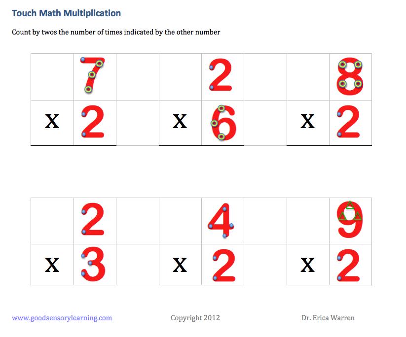 Touch Math Games N More Math Touch Math Touch Point