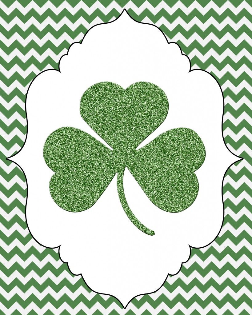 It's just a picture of Zany St Patrick's Day Clover Printable