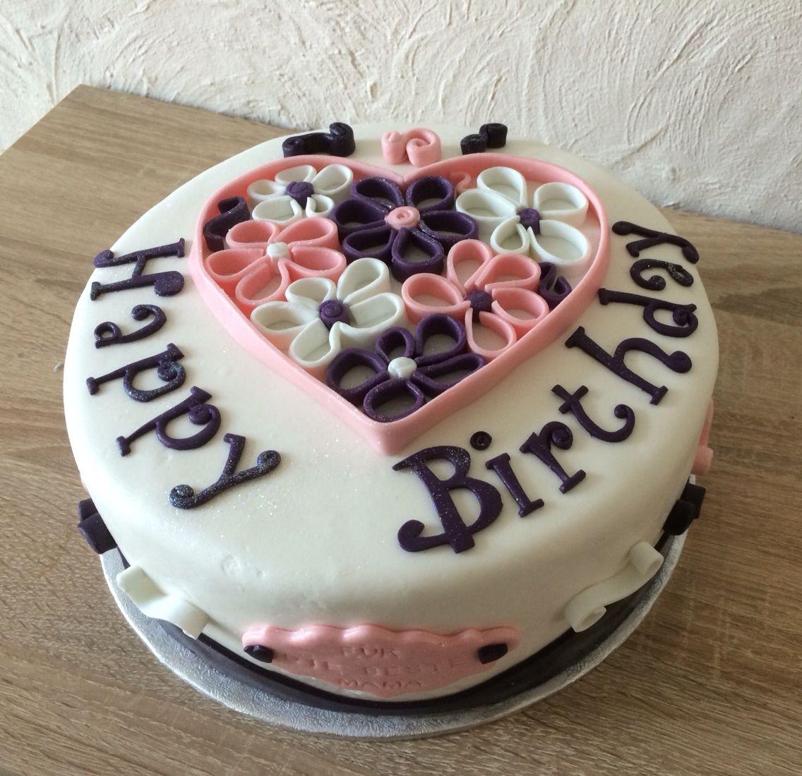 Quillen Cake Birthday Fondant Heart Herz Kuchen Backsternchen