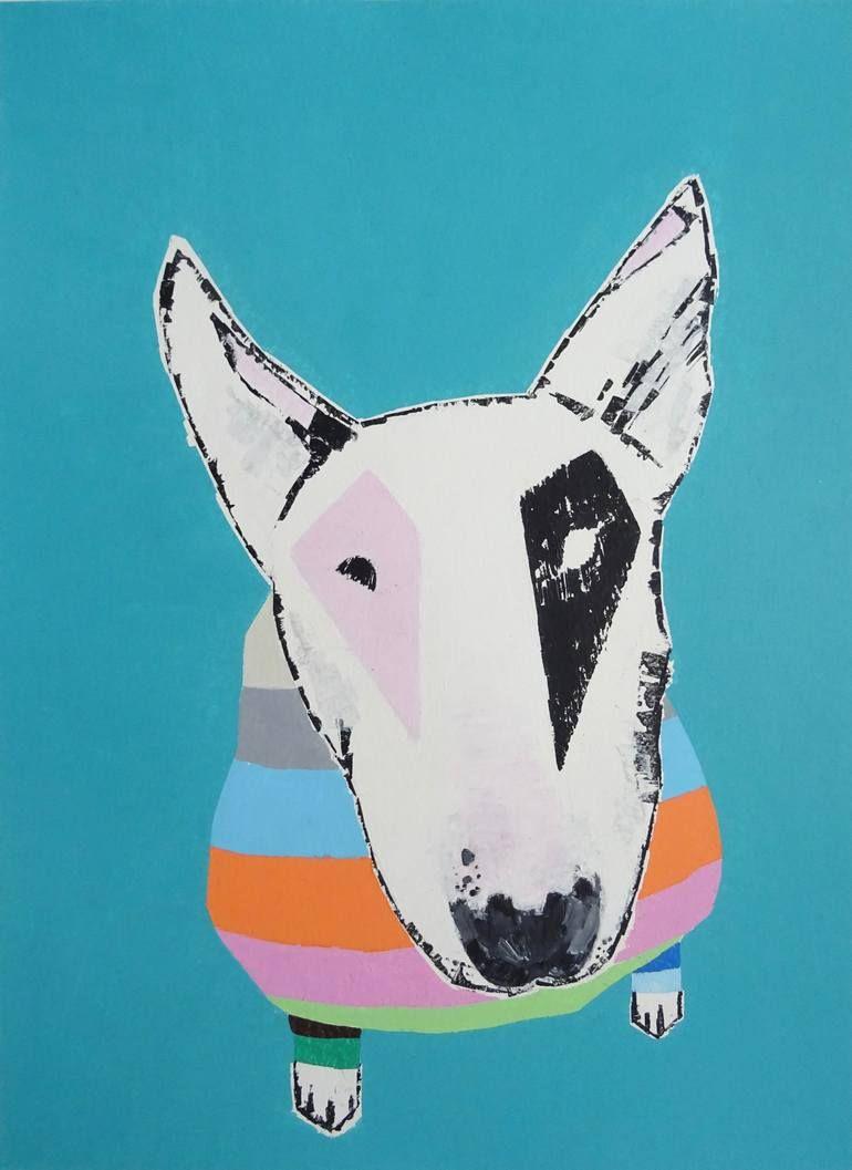 Bull Terrier Painting Bull Terrier Art Bull Terrier Dog Paintings