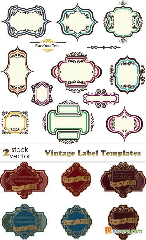 free antique labels Vectors - Vintage Label Templates » Free - free address labels samples