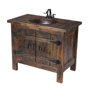 rustic barn wood bathroom vanity. Rustic Vanity With Sink Made From Reclaimed Barn Wood  Bathrooms