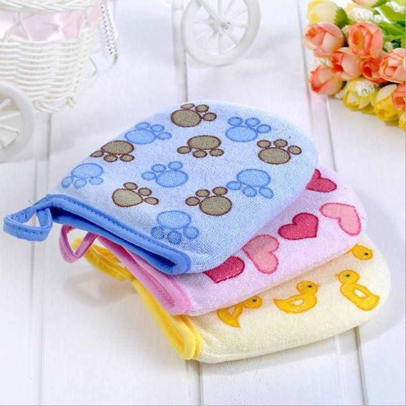Soft Bath Wash Mitt Glove Clothe Colourful Newborn Toddler Children Kids Fun