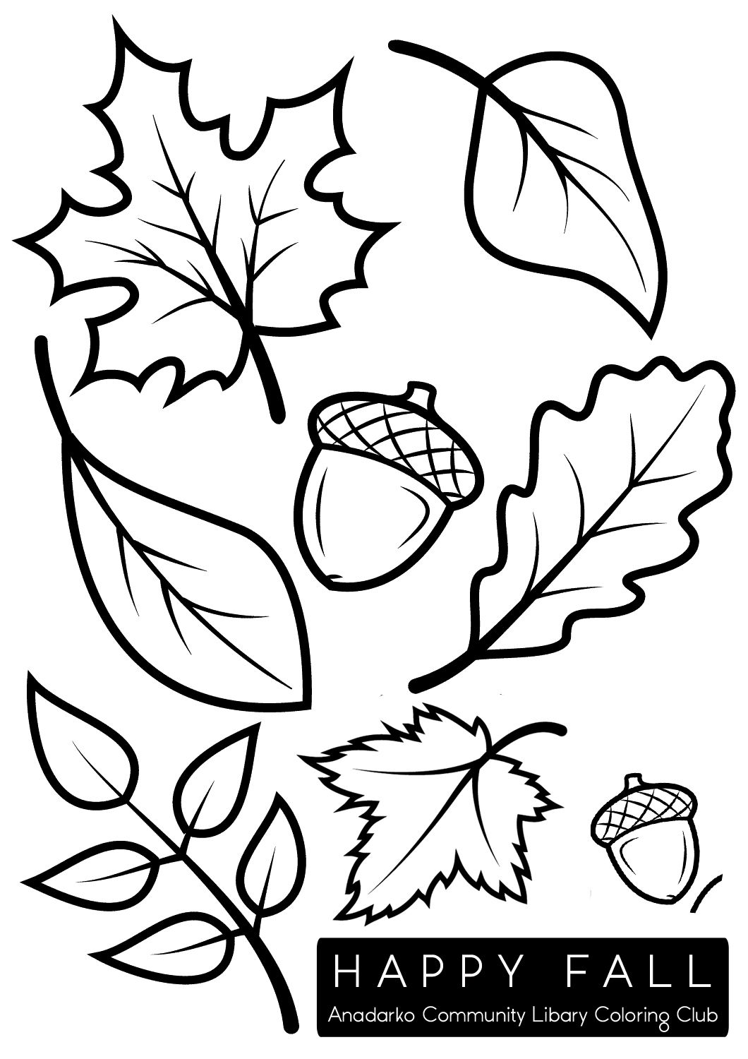 Fall Leaves Acorns Fall Leaves Coloring Pages Fall Coloring