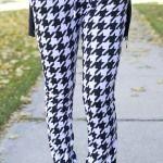 Black & White Print Jogger Pants