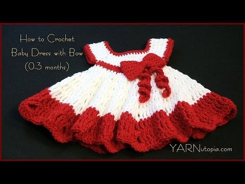 Crochet Baby Dress/ Shells and lacy dress - Part 1 / Subtitulos en ...