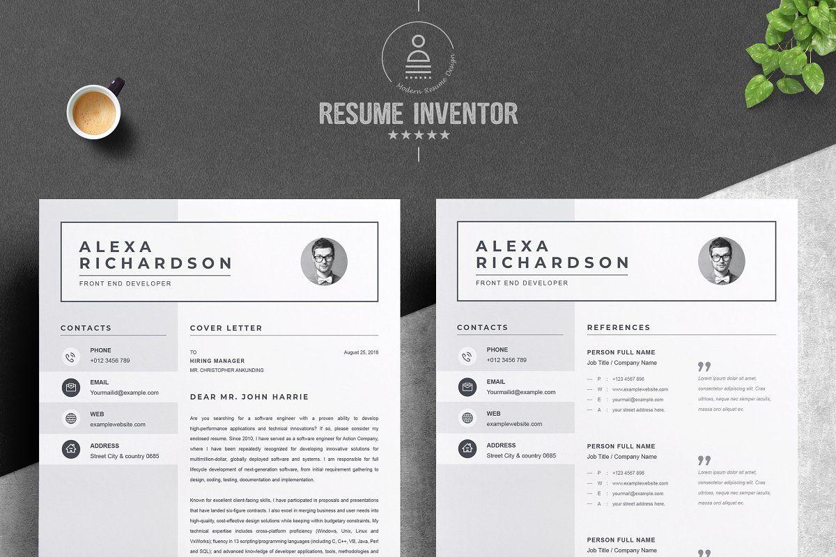 Resume/CV Design Template MS Word Cv design template