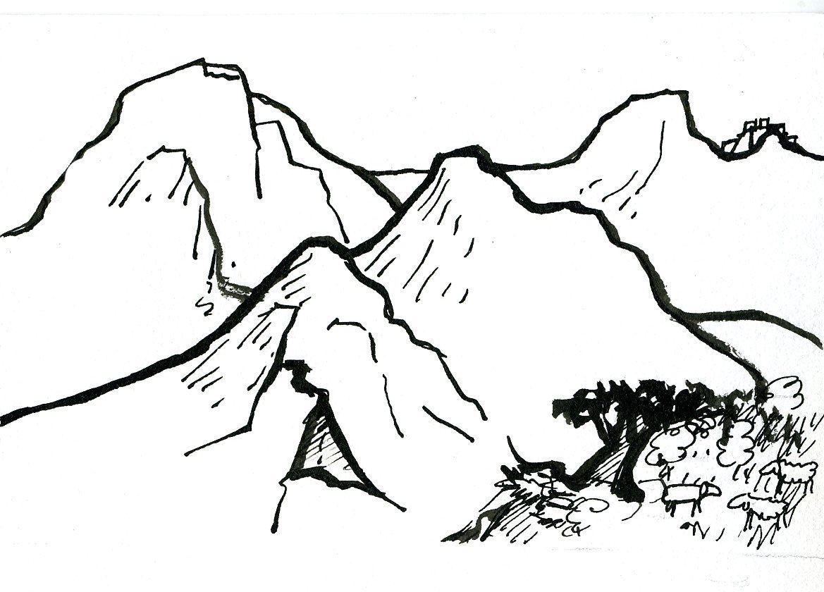 ment dessiner une montagne