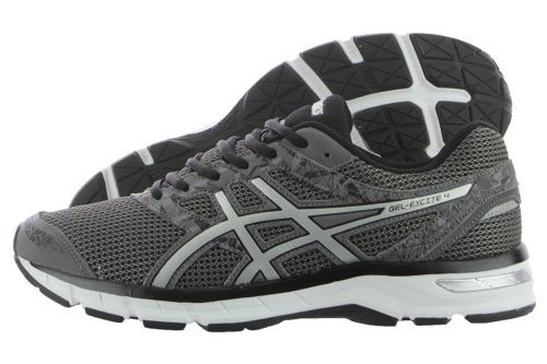 597fa94cc93b Asics Gel-Excite 4 T6E3N-9793 Carbon Silver Black Mesh Running Shoes Medium  Men