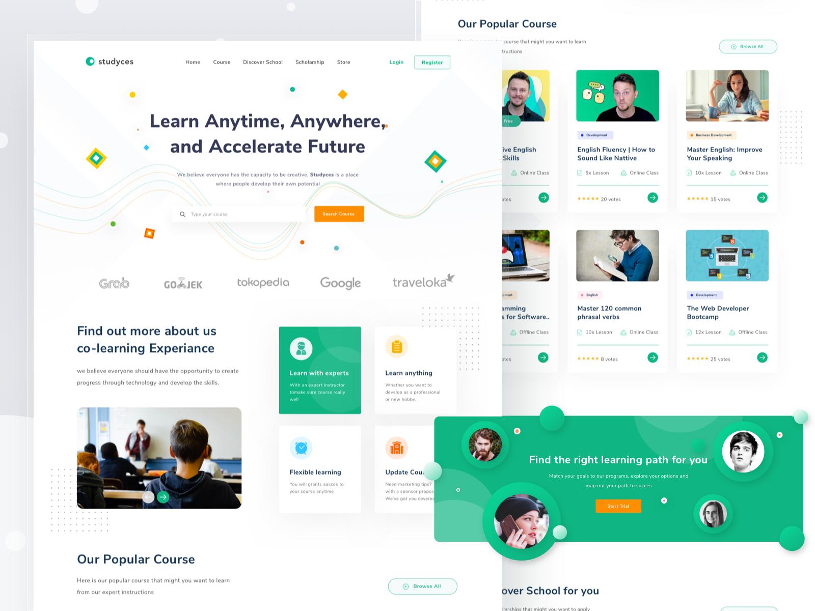 Education Course Landingpage In 2020 Education Coach Website Web Design