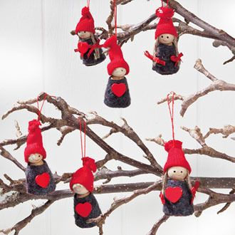 scandinavian swedish danish norwegian pixie christmas ornaments box of 6 7242 ebay