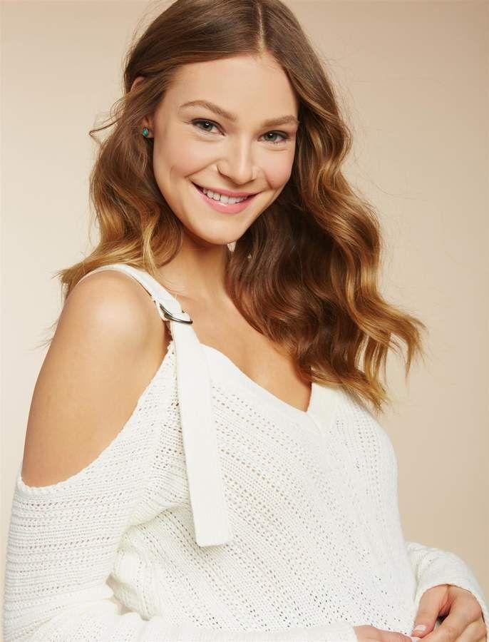 af286c2a9479e Jessica Simpson Motherhood Maternity Cold Shoulder Maternity Sweater ...
