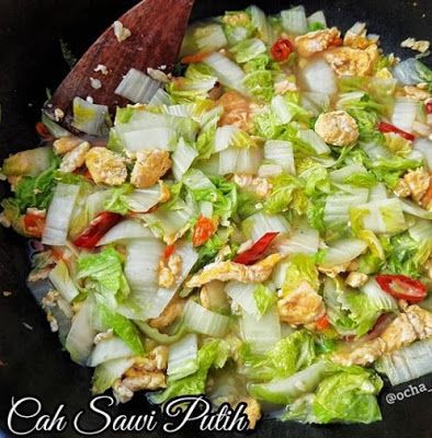 Cah Sawi Putih Masakan Vegetarian Resep Masakan Resep Masakan Cina