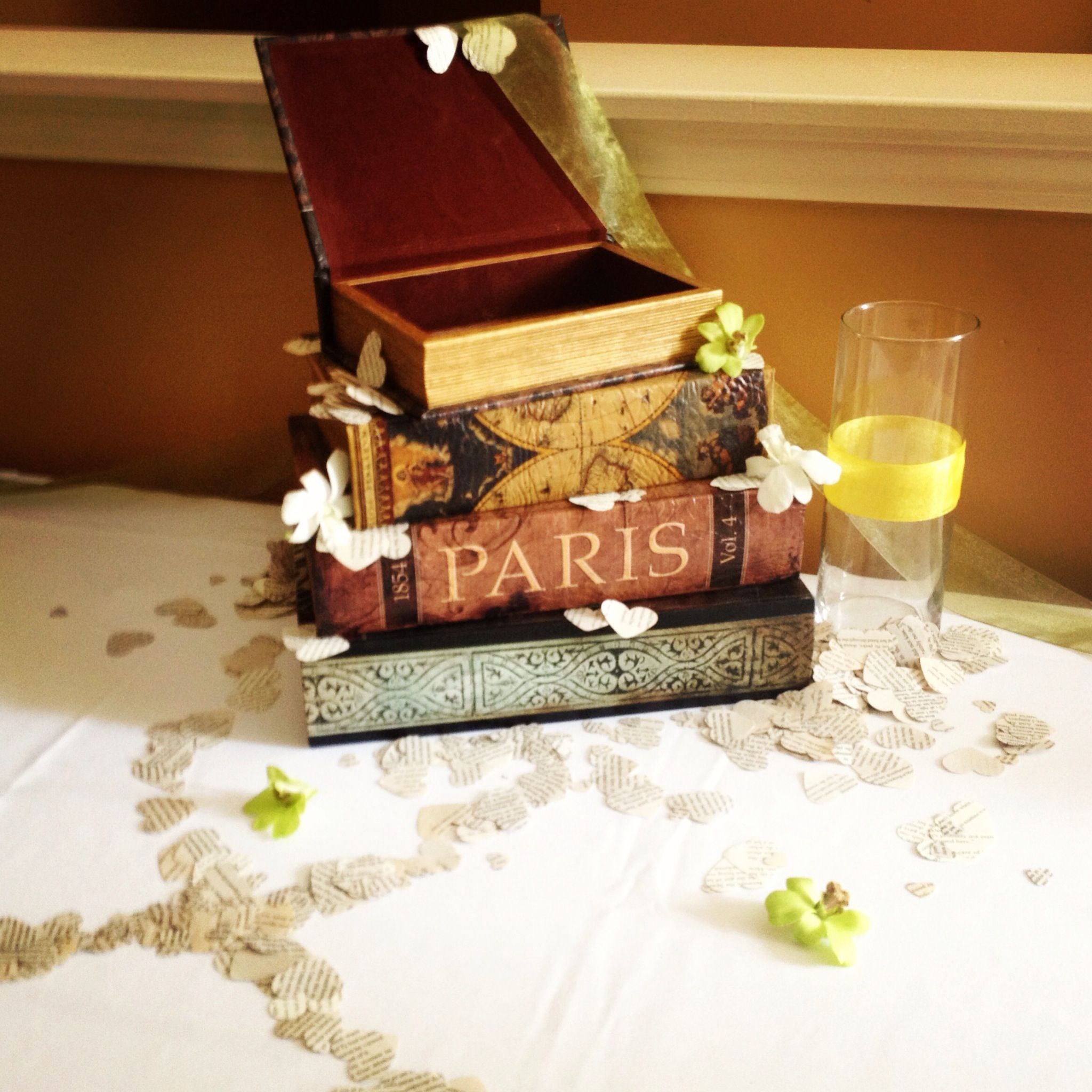 Our Wedding Card Box Made From Book Boxes France And World Globe