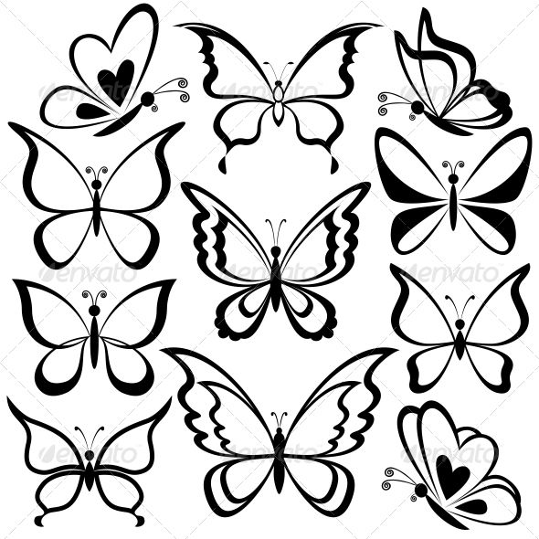 Butterfly Tattoo Easy Drawing