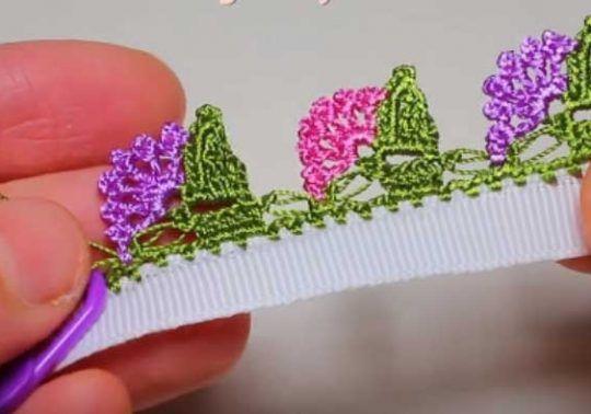 Yamaç Çiçekli Tığ Oyası Modeli Yapılışı