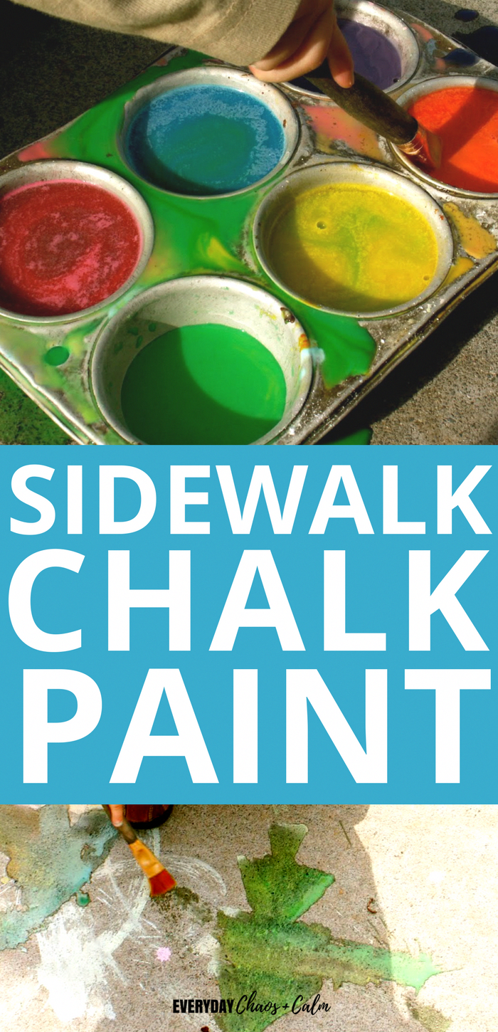 How to Make Sidewalk Chalk Paint #campingpictures