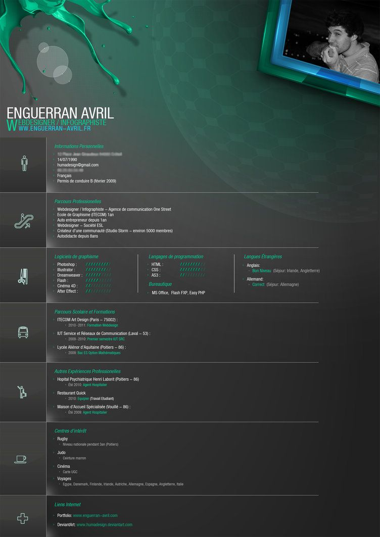 My New CV by ~Humadesign on deviantART