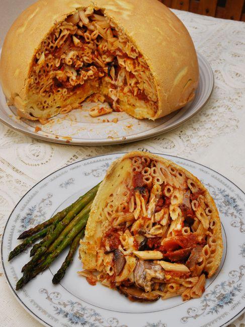 Timpano  Emeril lagasse recipes, Timpano recipe, Food
