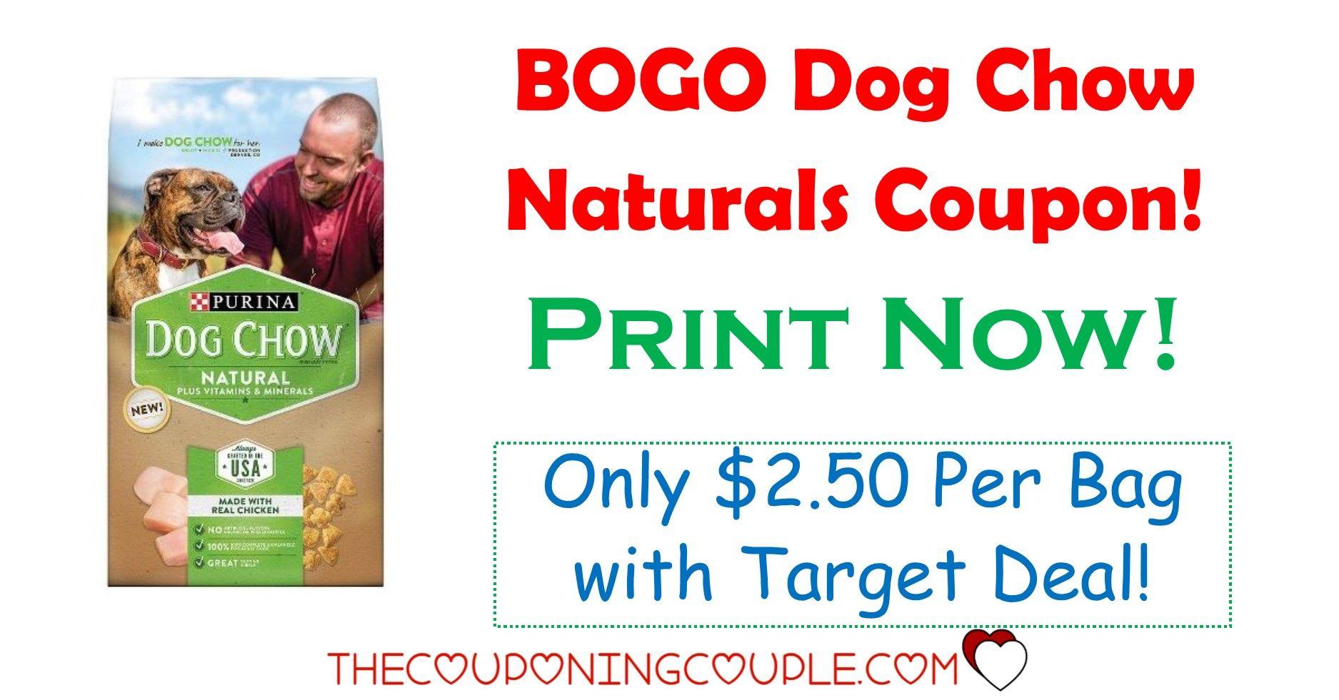 Bogo Purina Dog Chow Naturals Coupon Target Deal Purina Dog